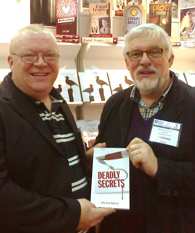 With fellow author IanMcFadyen at the LBF.