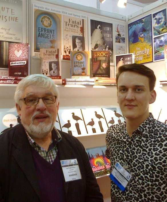 With Graham Robson on the Book Guild's stand at this year's London Book Fair.