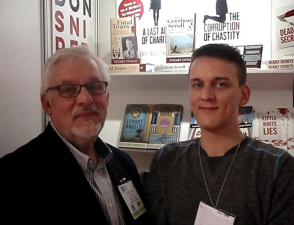 With Graham Robinson on the Book guild stand. All four of the books published so far nicely displayed in the background!