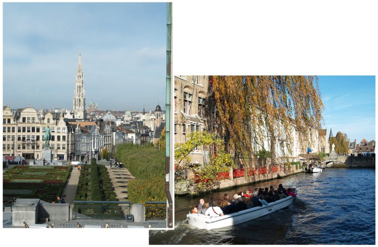 Brussels on the left, the romantic canals of Brugge on the right, not to mention delicious orange slices dipped in Belgian chocolate....