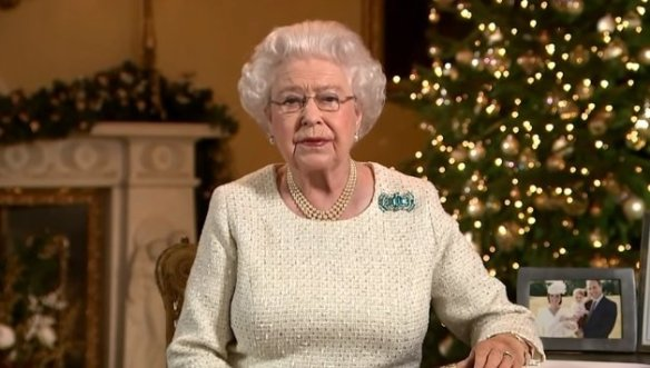 HM The Queen during her Christmas Broadcast.